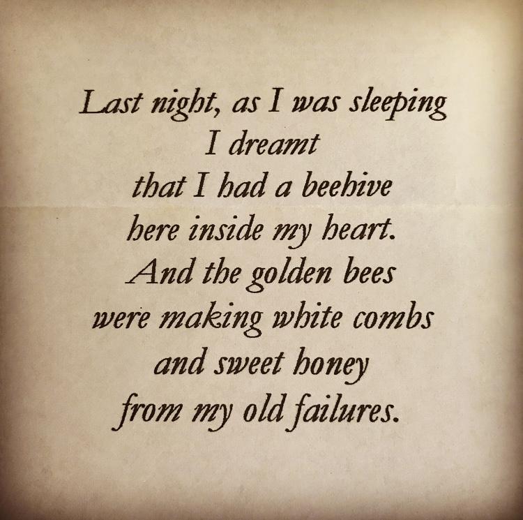 poem by david white